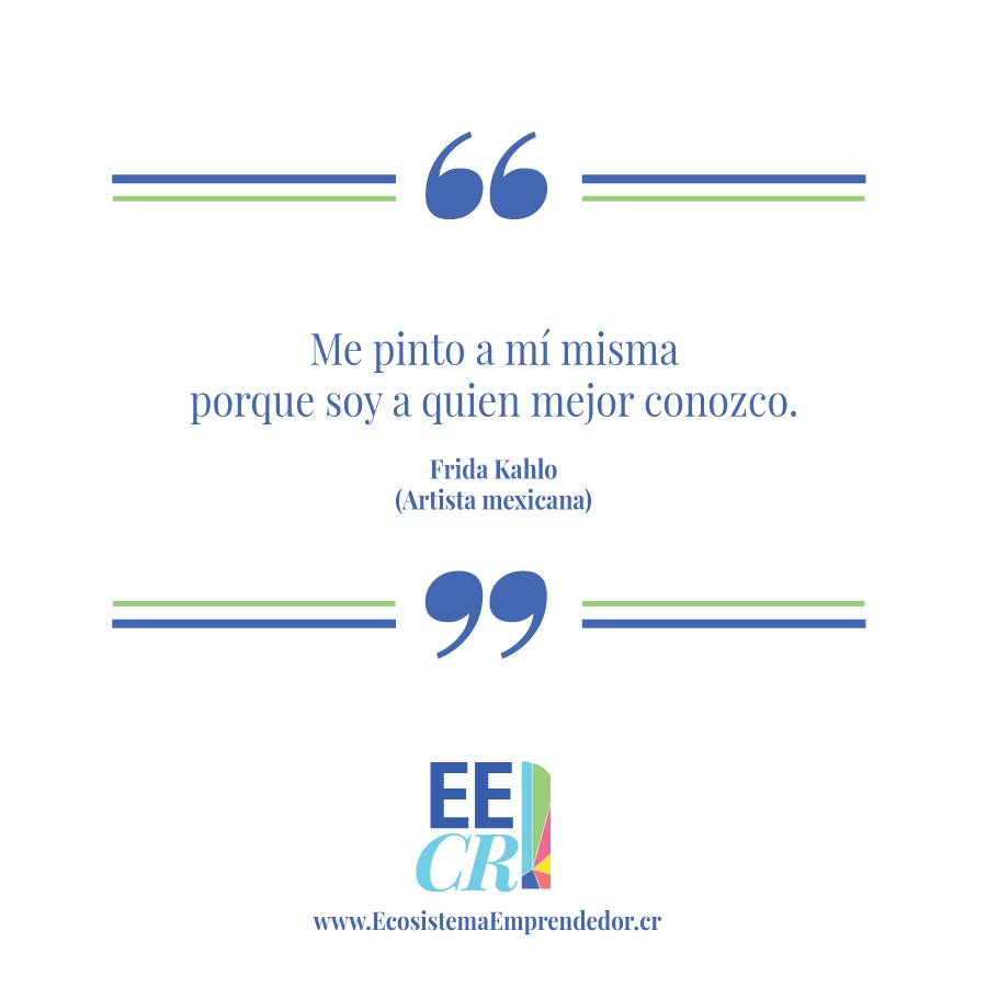 Frase de Frida Kahlo sobre autoconocimiento